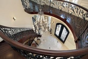 Curved Stairway in Jumbo Loan Home